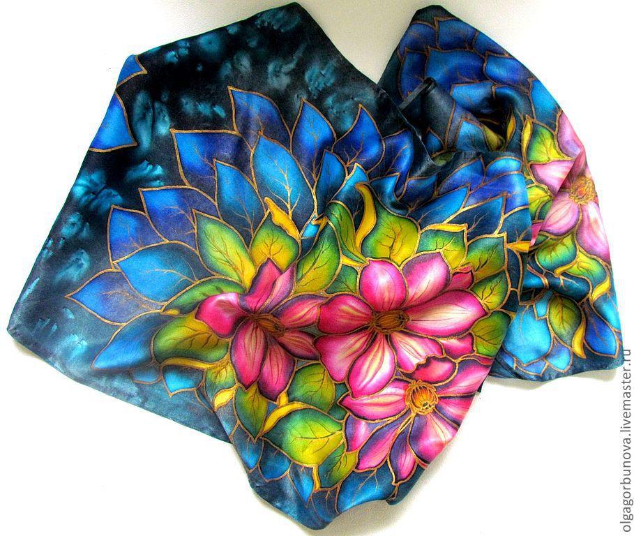 Картинки для шарфов батик