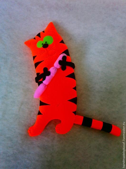 Игрушки животные, ручной работы. Ярмарка Мастеров - ручная работа. Купить Подушка игрушка Обворожительный обжора. Handmade. Рыжий, подушка