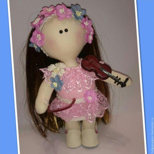 Коллекционные куклы ручной работы. Ярмарка Мастеров - ручная работа. Купить Кукла Катарина (14). Handmade. Розовый, кукла Тильда