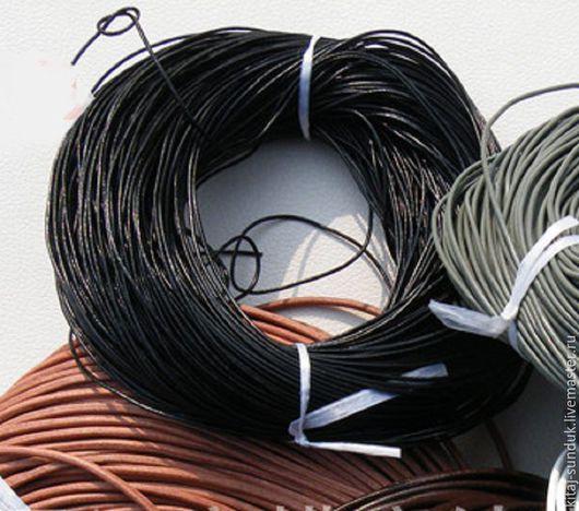 Для украшений ручной работы. Ярмарка Мастеров - ручная работа. Купить Кожаный шнур 2 мм. Handmade. Черный