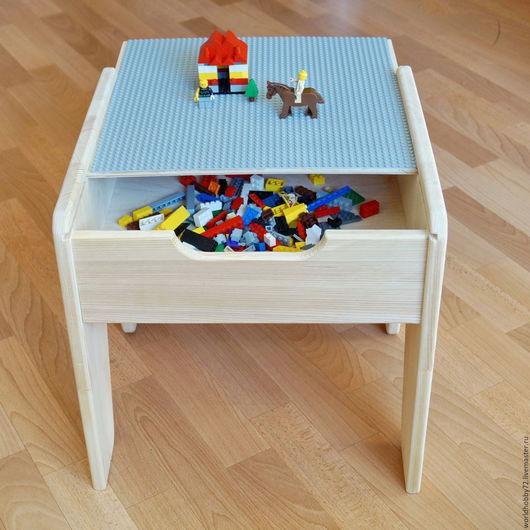 Мебель ручной работы. Ярмарка Мастеров - ручная работа. Купить LEGO стол. Handmade. Бежевый, столик для ребенка, сосна