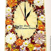 Для дома и интерьера ручной работы. Ярмарка Мастеров - ручная работа часы ПЕРВОЕ ПРИЗНАНИЕ, фьюзинг. Handmade.