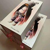 Упаковочная коробка ручной работы. Ярмарка Мастеров - ручная работа Коробка - пенал для кукол. Handmade.