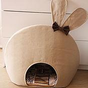 Для домашних животных, ручной работы. Ярмарка Мастеров - ручная работа Дом нора для кошки собаки животного домик лежанка. Handmade.