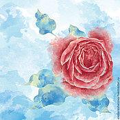 Аксессуары ручной работы. Ярмарка Мастеров - ручная работа Красивые рисунки. Морозная роза. Растровое изображение. Handmade.