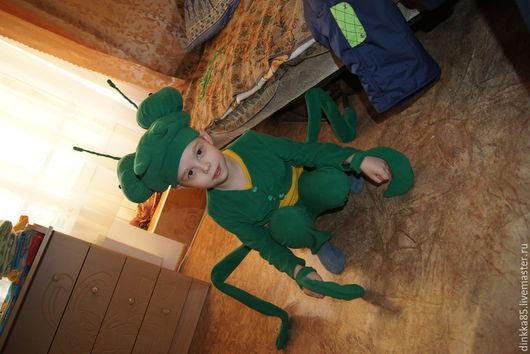"""Детские карнавальные костюмы ручной работы. Ярмарка Мастеров - ручная работа. Купить костюм """"Богомол"""". Handmade. Ярко-зелёный"""