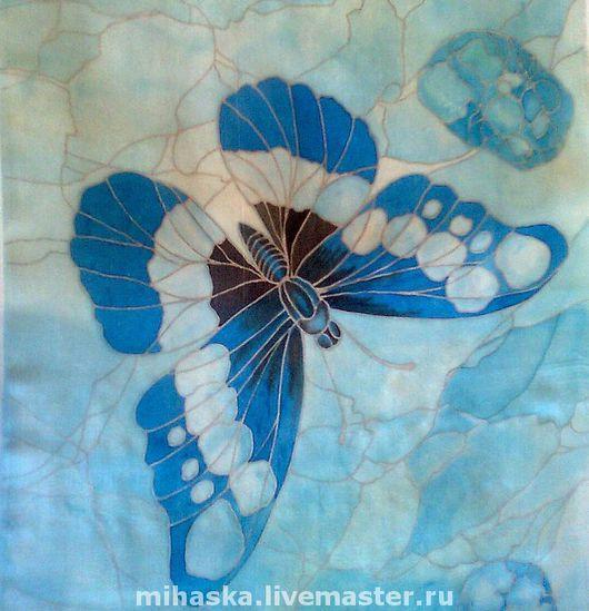 """Шарфы и шарфики ручной работы. Ярмарка Мастеров - ручная работа. Купить Шарф """"Бабочки-самоцветы""""-3. Бирюза.. Handmade. прозрачный"""