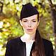 """Шляпы ручной работы. Ярмарка Мастеров - ручная работа. Купить Пилотка """"Классика"""". Handmade. Классика, шляпка, стильный аксессуар, однотонный"""