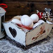 """Для дома и интерьера ручной работы. Ярмарка Мастеров - ручная работа Сухарница, конфетница """"Птичий двор"""". Handmade."""