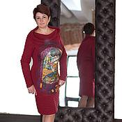 Одежда ручной работы. Ярмарка Мастеров - ручная работа Вишневый Поцелуй Климт Платье вязаное. Handmade.