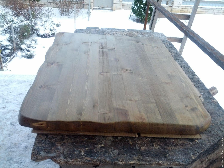 Столешница из натуральной древесины цвета орех, Столы, Покров,  Фото №1