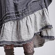 Одежда ручной работы. Ярмарка Мастеров - ручная работа Льняной бохо сарафан 4-6 графит. Handmade.
