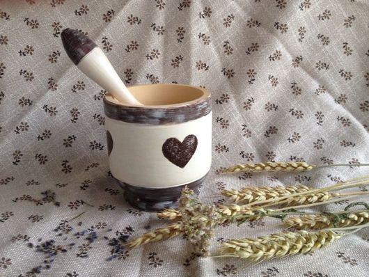 """Ступки ручной работы. Ярмарка Мастеров - ручная работа. Купить Ступка """"Сердечки"""". Handmade. Ступка, кухня, сердце, краски акриловые"""