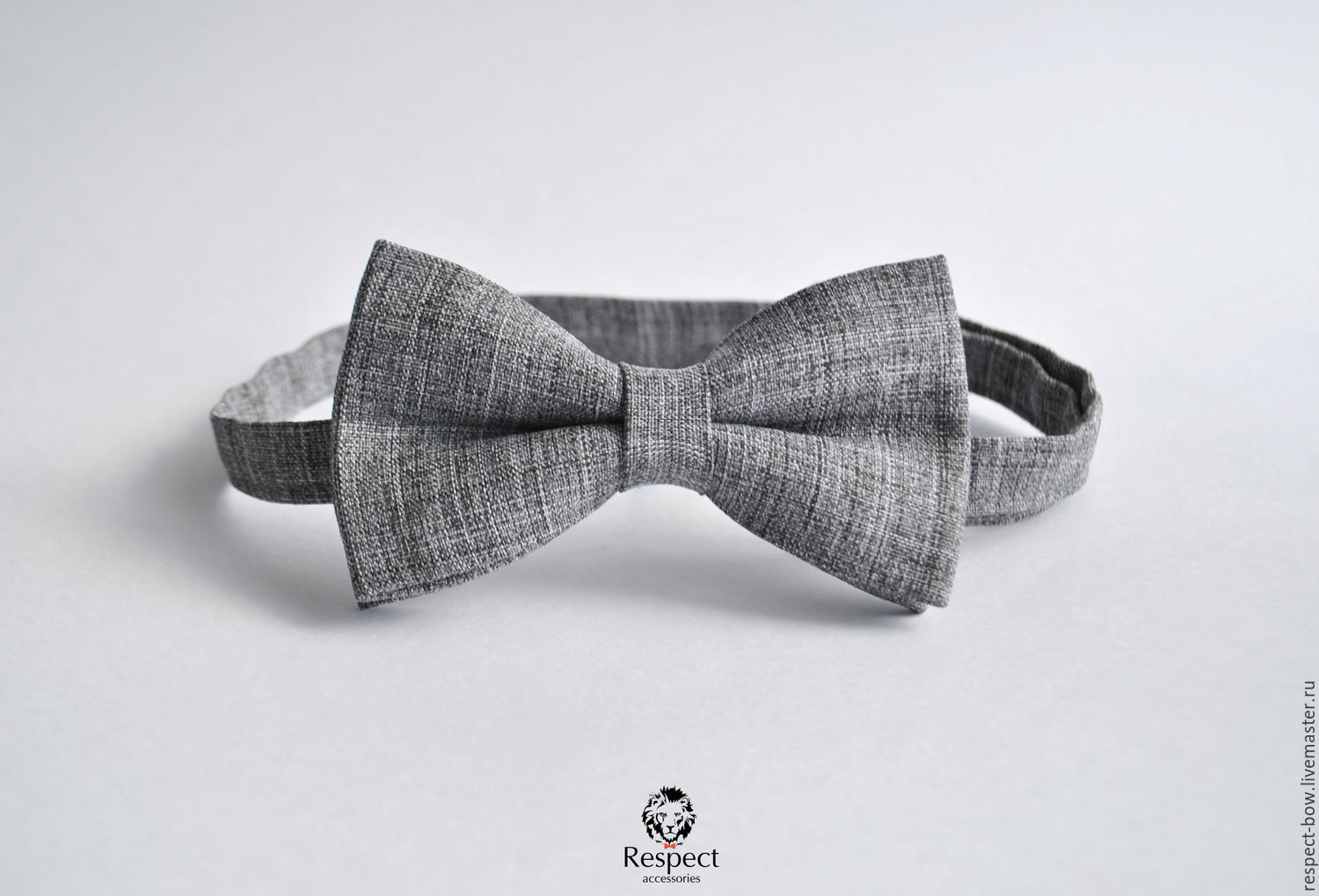 Grey textured tie Harmony / for a wedding in rustic style, Ties, Moscow,  Фото №1