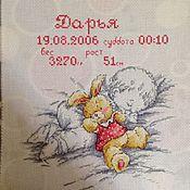 Для дома и интерьера ручной работы. Ярмарка Мастеров - ручная работа Детская метрика. Handmade.