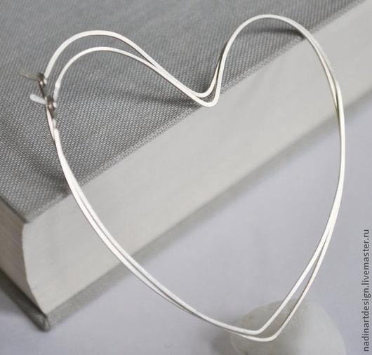 Серьги-сердца