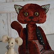 Куклы и игрушки ручной работы. Ярмарка Мастеров - ручная работа Плюшевый кот. Handmade.