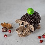 Элементы интерьера ручной работы. Ярмарка Мастеров - ручная работа Ароматный кофейный ежик с яблоком. Handmade.