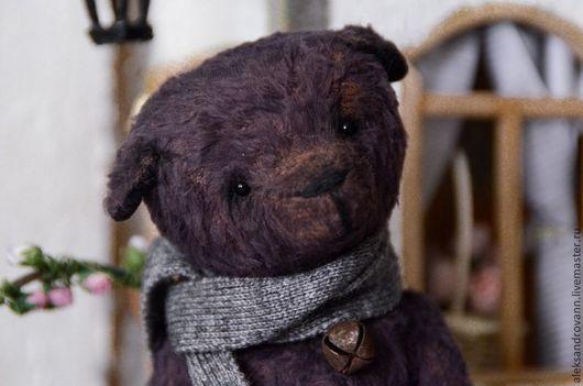 Мишки Тедди ручной работы. Ярмарка Мастеров - ручная работа. Купить Тедди мишка Баклажан. Handmade. Темно-серый, вискоза