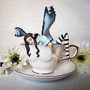 Куклы и игрушки handmade. Livemaster - original item Blue tea fairy in the circle. Handmade.