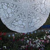 Для дома и интерьера ручной работы. Ярмарка Мастеров - ручная работа большая круглая скатерть Ромашковое лето. Handmade.
