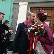 Свадебный салон ручной работы. Ярмарка Мастеров - ручная работа Свадебный жакет и шарф. Handmade.