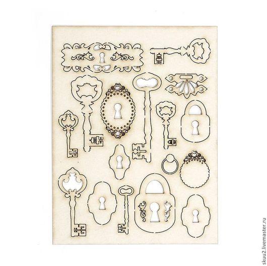 Открытки и скрапбукинг ручной работы. Ярмарка Мастеров - ручная работа. Купить 6 вариантов чипборд. Handmade. Бежевый, ретро стиль