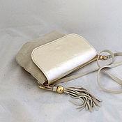 Сумки и аксессуары handmade. Livemaster - original item Handbag with a gold cap suede art. 307. Handmade.