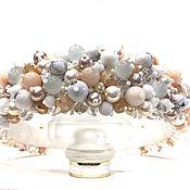 Украшения handmade. Livemaster - original item Rim of beads and stones (agate, cat`s eye, kahalong). Handmade.