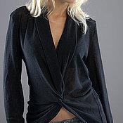 Одежда ручной работы. Ярмарка Мастеров - ручная работа Кардиган-джемпер черный. Handmade.