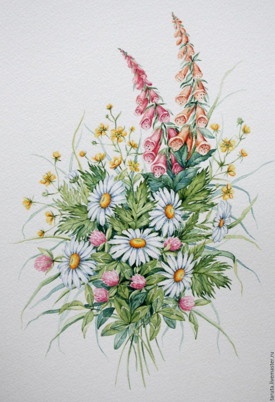 рисунок цветы картинки