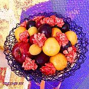 """Букеты ручной работы. Ярмарка Мастеров - ручная работа Фруктовый букет """"Purple"""". Handmade."""