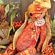 Мишки Тедди ручной работы. Ярмарка Мастеров - ручная работа. Купить Солнечная зайка. Handmade. Оранжевый, тедди зайка