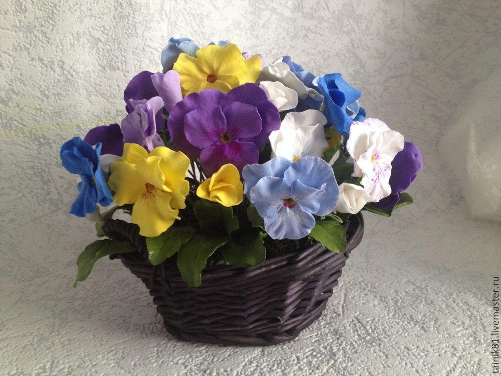 Цветы анютины глазки купить в москве подарок жеене на 8 марта