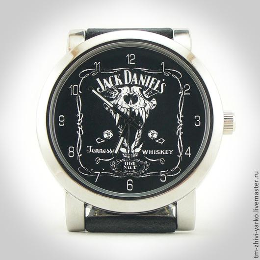 """Часы ручной работы. Ярмарка Мастеров - ручная работа. Купить Наручные часы """"Jack Daniels"""". Handmade. Часы наручные, whiskey"""