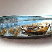 Очечник ручной работы. Ярмарка Мастеров - ручная работа Футляр для очков Пейзаж на воде. Handmade.