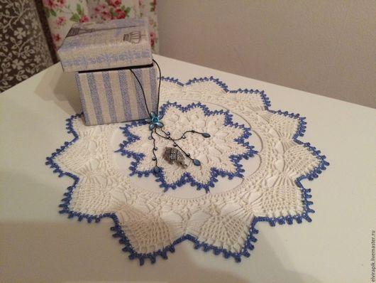 Текстиль, ковры ручной работы. Ярмарка Мастеров - ручная работа. Купить Салфетка Ледяной узор. Handmade. Салфетка крючком, белый