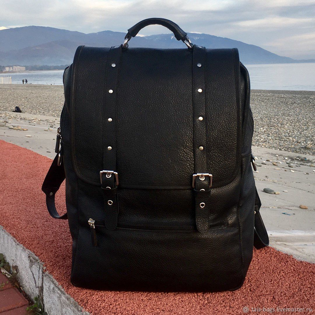 Men's leather backpack ORION black, Men\\\'s backpack, Izhevsk,  Фото №1