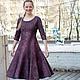 Платья ручной работы. Ярмарка Мастеров - ручная работа. Купить Валяное платье  Марсала. Handmade. Бордовый, шерсть меринос