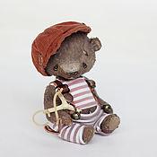 Куклы и игрушки ручной работы. Ярмарка Мастеров - ручная работа Ромка мишка тедди 10,8см. Handmade.