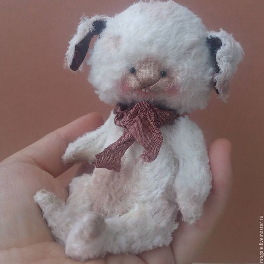 Мишки Тедди ручной работы. Ярмарка Мастеров - ручная работа. Купить Кролик Snowy. Handmade. Белый, теддик, немецкая вискоза