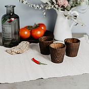 Посуда handmade. Livemaster - original item Set of Wooden wine glasses (3#13. Handmade.