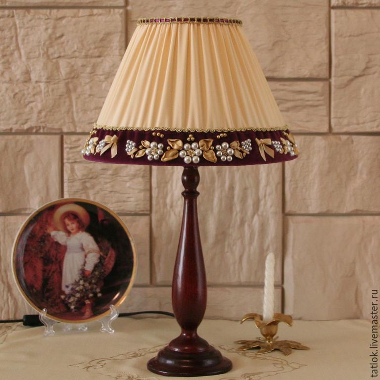 Своими руками настольные лампы с абажуром