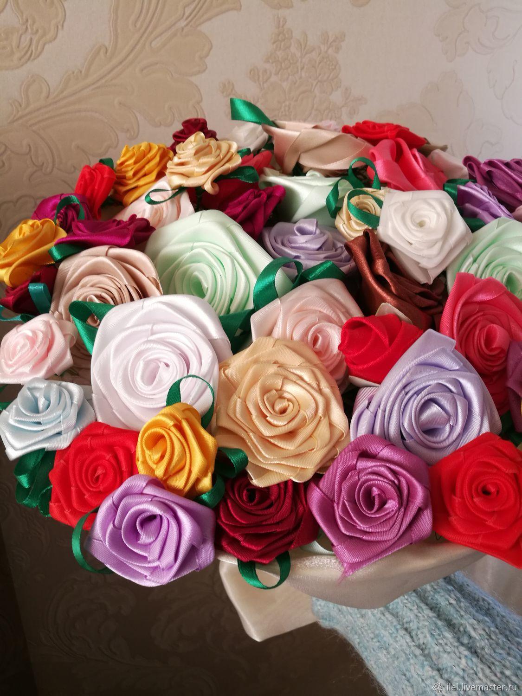 Цена, купить букет роз из ленточкой