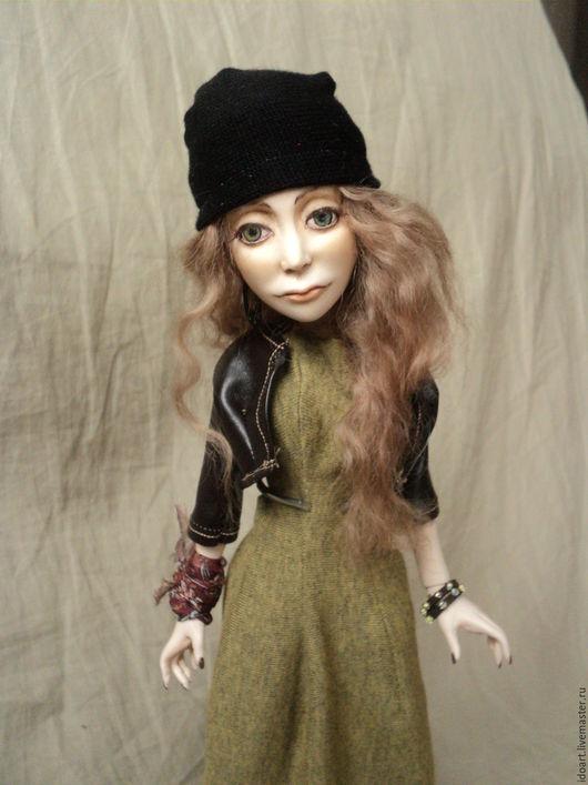 Коллекционные куклы ручной работы. Ярмарка Мастеров - ручная работа. Купить Шарнирная кукла в стиле Grunge. Handmade. Коричневый, полиуретан