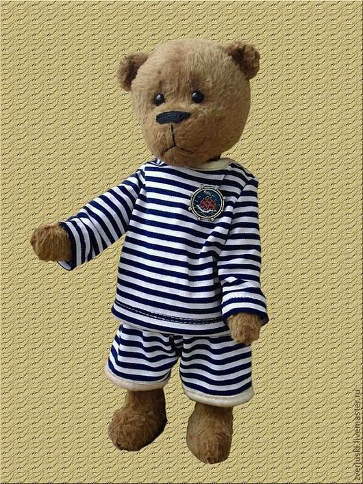 Мишки Тедди ручной работы. Ярмарка Мастеров - ручная работа. Купить Мишка «Морской волк». Handmade. Мишки тедди