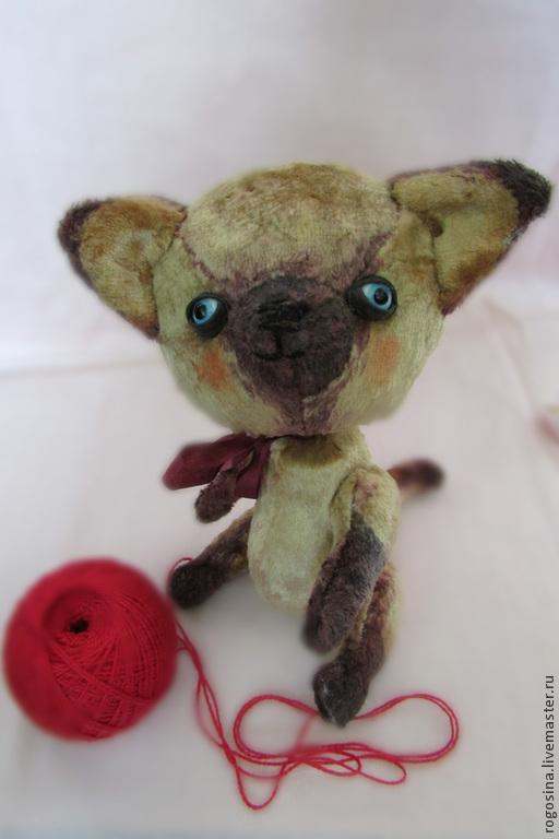 Мишки Тедди ручной работы. Ярмарка Мастеров - ручная работа. Купить Котёнок Тедди по имени Мупс. Handmade. Бежевый, тедди
