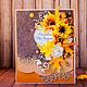 """Открытки на день рождения ручной работы. Ярмарка Мастеров - ручная работа. Купить Открытка на день рождения """"Медовая осень"""". Handmade."""