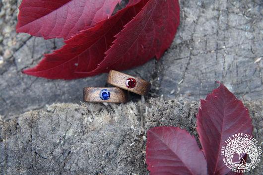 Кольца ручной работы. Ярмарка Мастеров - ручная работа. Купить Деревянные кольца. Handmade. Подарок девушке, свадьба, деревянные кольца