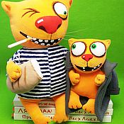 Куклы и игрушки handmade. Livemaster - original item If we live, we won`t die! Soft toys cats Vasya Lozhkina. Handmade.